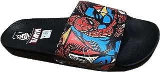 Vans x Marvel Mens Spiderman Slide-On Sandals Black/Red VN0004KI9H7