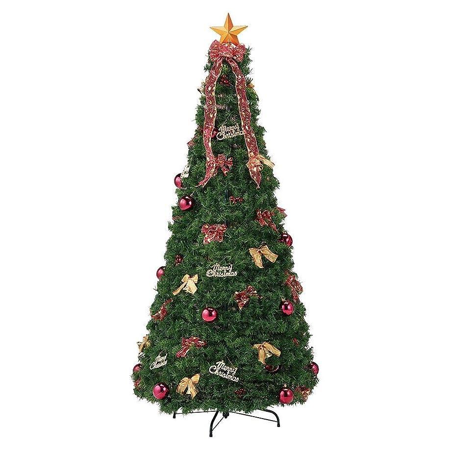 上記の頭と肩宙返り反発ポップアップツリー レッド クリスマス H195×W90cm 1セット