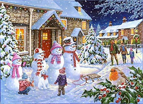 Aaubsk Puzzle 1000 Piezas Cartel navideño Pintura Serie 41 Arte Regalo Puzzle 1000 Piezas Adultos Juego de Habilidad para Toda la Familia, Colorido Juego de ubicación.50x75cm(20x30inch)