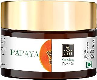 Good Vibes Papaya Face Gel 50 g, Skin Nourishing Moisturizing Light Weight Formula, Helps Reduce Wrinkles & Acne Breakouts...