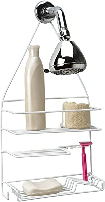 Amazon Com Grayline 41710 Deluxe Shower Caddy White