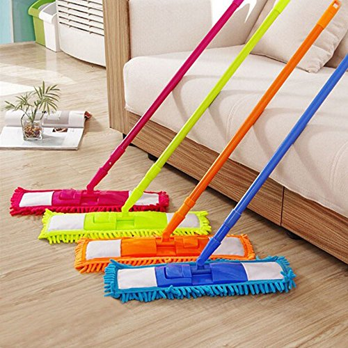 EVELYN LIVING Extendable Microfibre Mop Cleaner Sweeper Wooden Laminate...