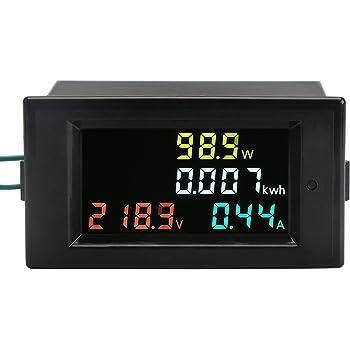 Auto-memory Digital Multimeter 100A Ammeter Voltmeter Power Monitor Energy Tester DROK 80-260V AC Multifunciton Digital Meter With CT STN Full-view LCD Screen Wide Measurement Range