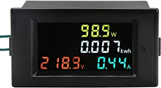 DROK AC Power Meter, AC 80-300V 100A Voltage Current Color LCD Display Panel, Digital Voltmeter Ammeter Watt Active Power Energy Battery Monitor Multimeter Volt Amp Meter with Current Transformer CT