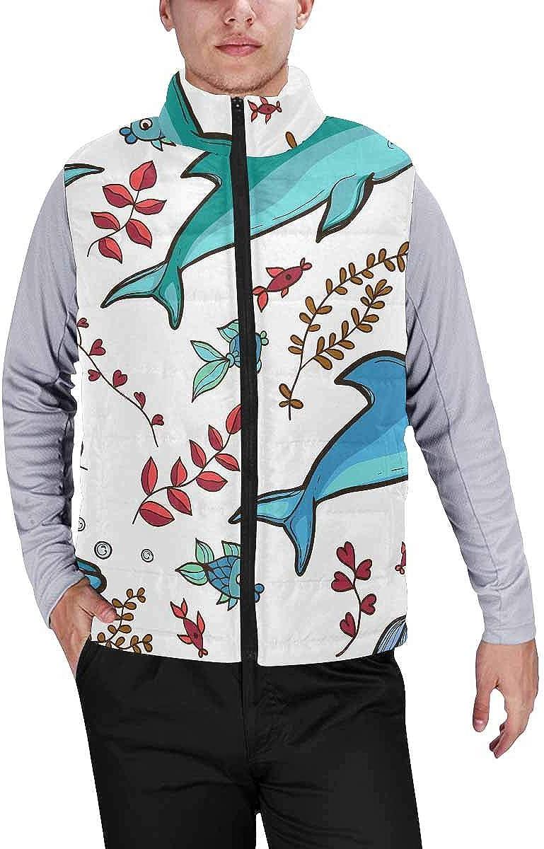 InterestPrint Men's Lightweight Vest Softshell for Camp Dogs with Bones