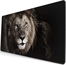 Big Lion in Kenya Large Gaming Mouse Pad, Extended Mouse Mat with Non Slip Rubber Base, Water-Proof Keyboard Pad for Computer, Laptop and PC. 15.8x29.5Inch