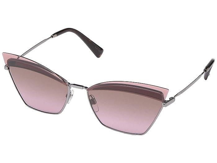 Valentino 0VA2029 (Gunmetal/Gradient Brown Pink) Fashion Sunglasses