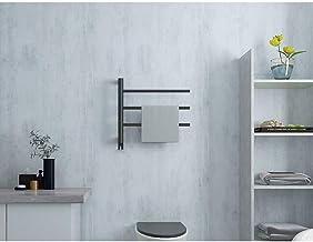 WDCC 15.7x 19.6 Thermostatische Verwarmde Handdoekenrek, Badkamer Plank Badkamer Verwarmd Handdoekenrek (zwart) (Kleur: E)