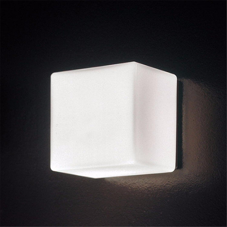 Modern LED Wandleuchte Hintergrundwand-Eiswandlampe des weien Raumes der Glaswandlampenrückwandlampengasse privater Raum Vintage Retro Café Loft Bar Flurlampe, Wandlampe Upaus Aluminium für Flur.