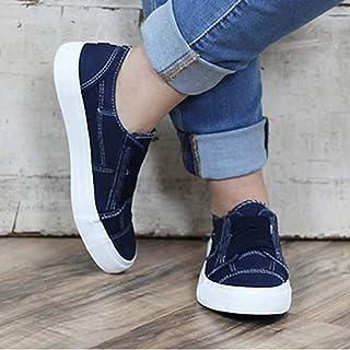 95sCloud Zapatillas de lona para mujer, zapatillas bajas de deporte, cómodas, para caminar, para el gimnasio, para el tiem...