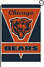 Wlilycoco Welcome Small Garden Flag Vertical Double Sided 12.5 x 18 Inch Chicago Bears Farmhouse Summer Burlap Yard Outdoor Decor