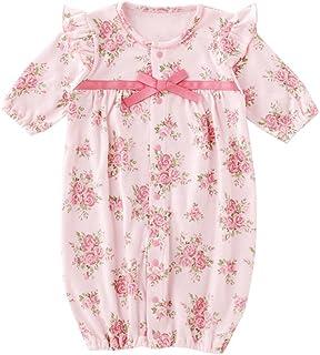(チャックル) chuckle * スウィートガール * ローズ お花柄 新生児ツーウェイオール P5231E (ピンク)