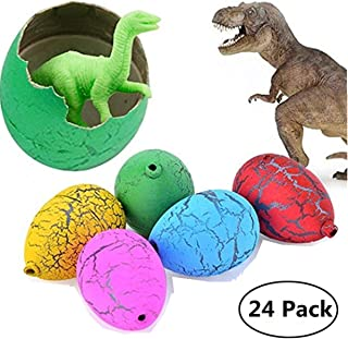 Jofan 24pcs Dinosaur Eggs That Hatch Growing Toys with Mini Dinosaur Figures Inside for Kids Christmas Party Favors