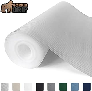 Gorilla Grip Ribbed Top Drawer and Shelf Liner, Non Adhesive Roll, 12 Inch x 10 FT, Durable and Strong, Grip Liners for Drawers, Shelves, Kitchen Cabinets, Storage, Kitchens and Desks, Clear Ribbed