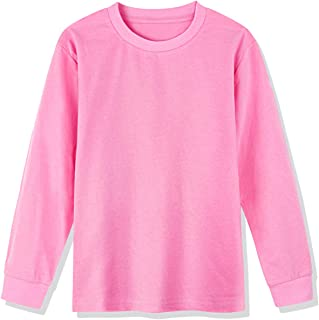 COSLAND Youth Long Sleeve 100% Heavyweight Cotton T-Shirt Varity of Colors