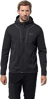 Jack Wolfskin Men's Kiewa Hooded Jacket Recycled Lightweight Fleece Jacket