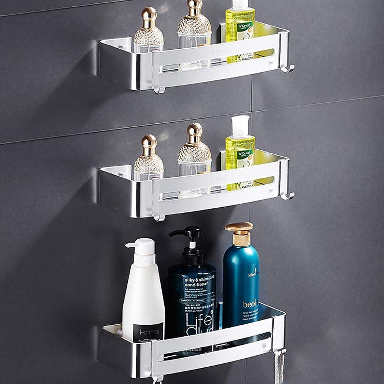 Rack- Unlimited Height Bathroom Shelf, Space Aluminum Kitchen Shelf, Square Basket (color   B, Size   3 Pack)