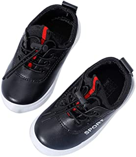 Hopscotch Boys PU Casual Wear Sneakers - Black