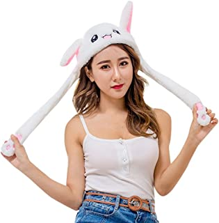 Christmas Cute Animal Ear Hat Can Move Pop Up Airbag Magnet Cap Dance Toy Plush Hats