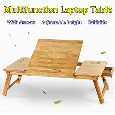 Portable Folding Bamboo Laptop Table Sofa Bed Office Home Laptop Stand Computer Notebook Desk Bed Dining Table Plus Size