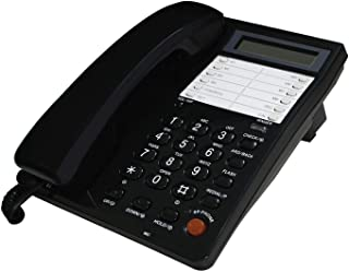 Blue Donuts BD-098BLK2 Corded Phone with Caller ID, Home Phone with Speakerphone, Landline Phone, LCD Display, Wall Mount