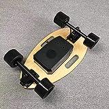 WRISCG Skateboard Eléctrico Apariencia de Escarabajo con El Regulador Alejado, Tabla de Skate Completa Maple Wood Longboards Monopatín para Los Adolescentes Adultos Niñas y Niños, 25 Km/h Máximo,D
