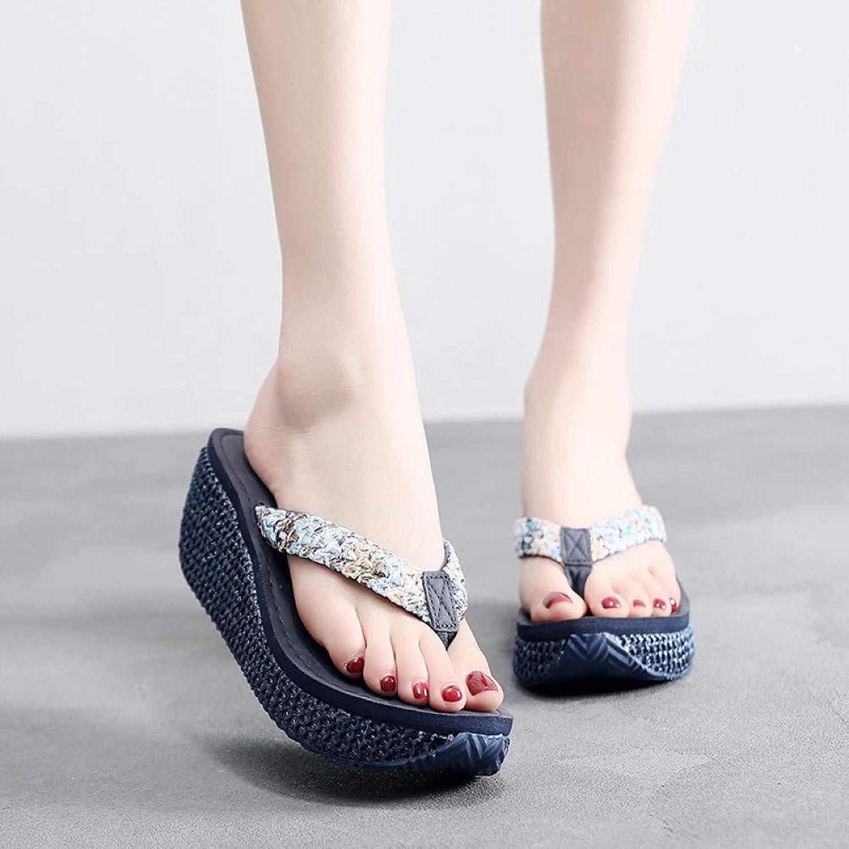 rot LIU Hohe Plattform Flip Flops Frauen Ferse 2019 Sommer Schuhe Mode Straped Hausschuhe Strand Flip Flops Clog Keil Flip Flop Sandalen