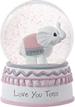 Precious Moments Love You Tons Elephant Musical Snow Globe, One Size, Gray Chevron
