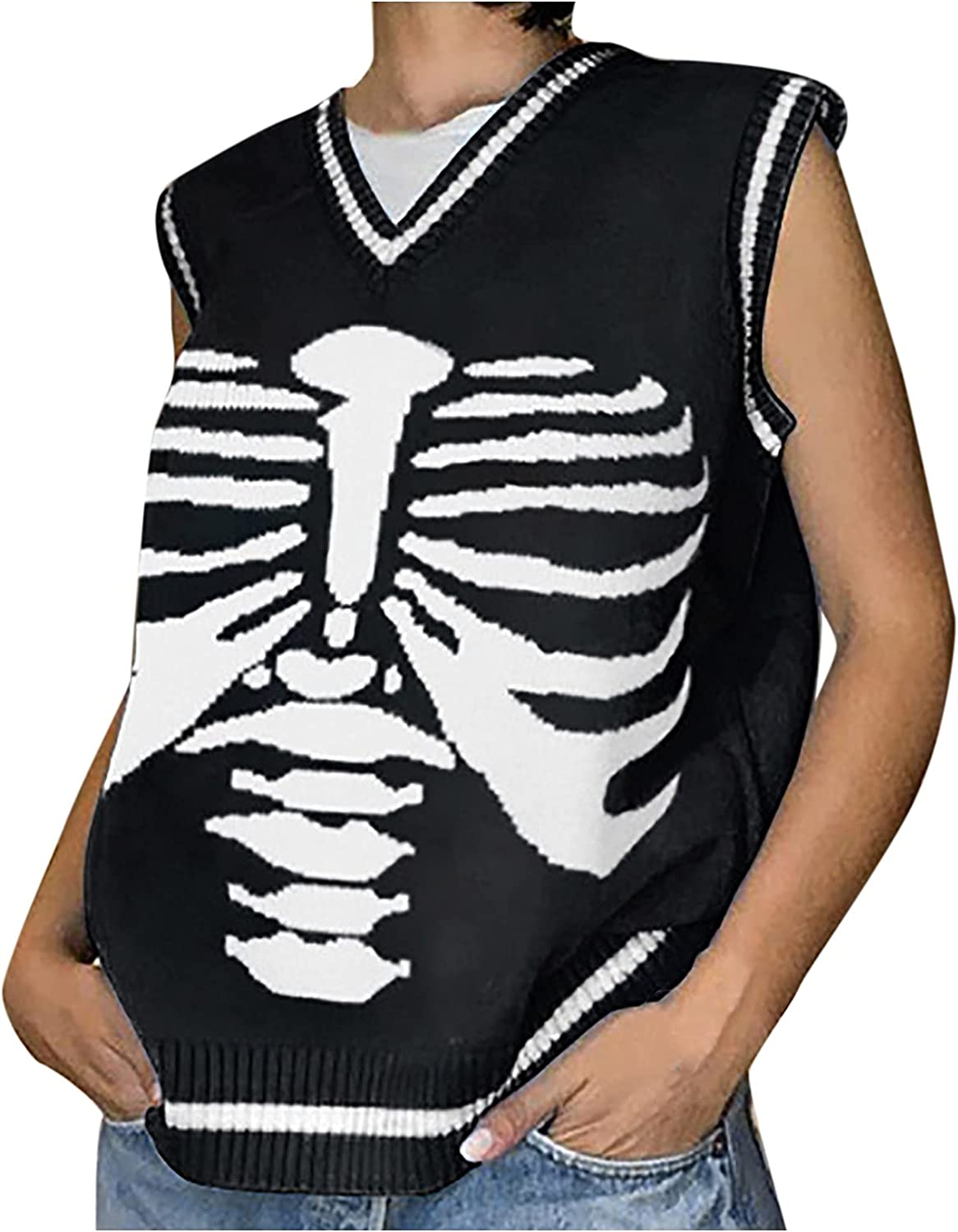 Felgay Fashion Women's Knitted Sweate free shipping Sleeveless Graphic Printed Directly managed store