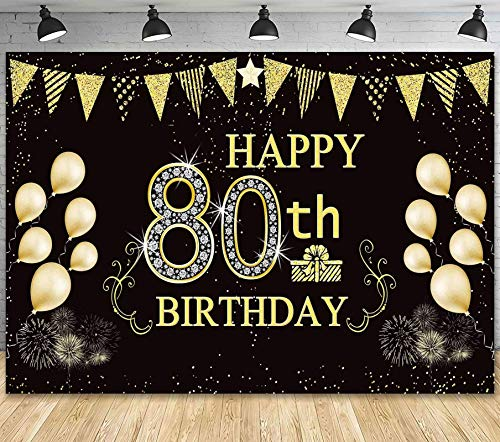 Happy 80th Birthday Backdrop/Banner