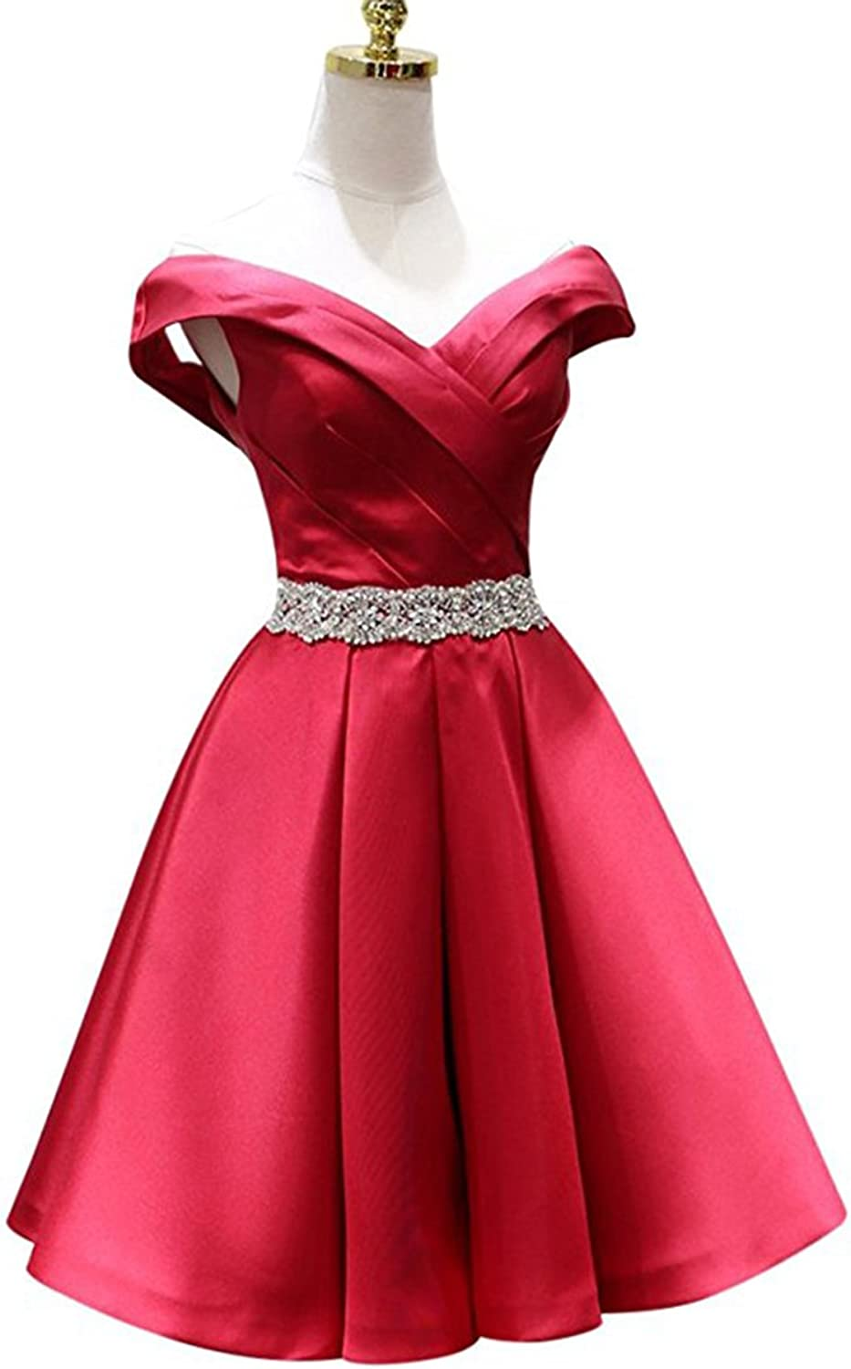 Alilith Z Sexy Off The Shoulder A Line Homecoming Prom Dresses Appliques Short