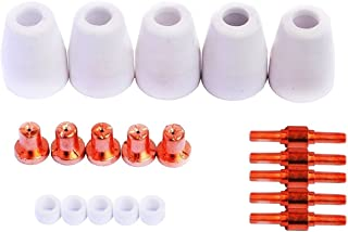 LCON20-20pc Consumables Nozzle Electrode Cup and Ring CON20 for Plasma Cutters LT3500, LT5000D, CT520D PT31 Torch by TG Welding