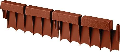 Suncast Interlocking No Dig Border Edging - Brick - Resin Construction for Garden, Lawn, and Landscape Edging - Water Resi...