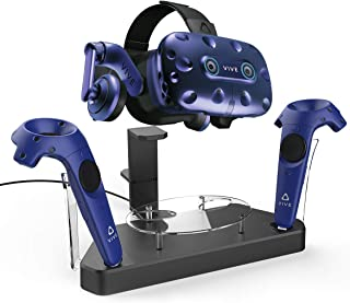 AFAITH Upgraded Charger for HTC Vive Pro or Vive Headset and Controller, Multifunction Contact Charging Station, VR Stand ...