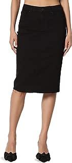 Best black denim skirt midi Reviews