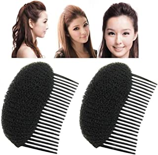Pack of 2 Women Lady Girl Hair Styling Clip Stick Bun Maker Braid Tool Hair Accessories Charming Bump It Up Volume Inserts Do Beehive Hair Styler Hair Comb DIY Hair Beauty Tool