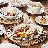 Vancasso Tafelservice Steingut, BONBON 24 teiliges Geschirrset, handbemaltes Kombiservice für 6 Personen, Vintage Aussehen - 3
