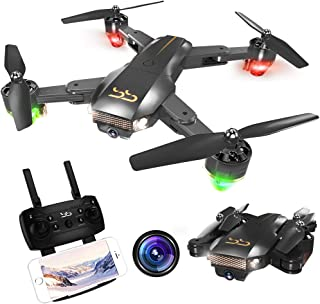 ScharkSpark Drone Thunder with Camera Live Video, RC Quadcopter, Easy to Operate for Beginners, Portable and Foldable Arms, 2.4G 6-Axis, Headless Mode, Altitude Hold, One Key Take Off and Landing