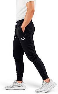Athletics Pantalones de chándal para Hombre (Crucero) Pantalones Deportivos Deportivos para Correr para Hombre con Bolsillos con Cremallera (Negro) (pequeño) (CA1003-SB)