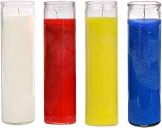 Ginger Wholesale Sanctuary Series Assorted Religious Candle, White Blue Yellow and Red, Case of 12 (1 Case)