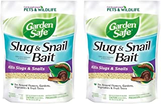 Garden Safe Slug & Snail cjXkc Bait (HG-4536), 2 lb (2 Pack)