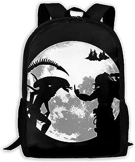 PcldLoeE-00 School Backpack Alien Vs Predator Student Bag Fashion School Bookbag College Backpack for Men/Women
