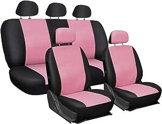Lupex Shop Zip PU Pink.N Car seat Covers Universal Imitation Leather Pink/Black