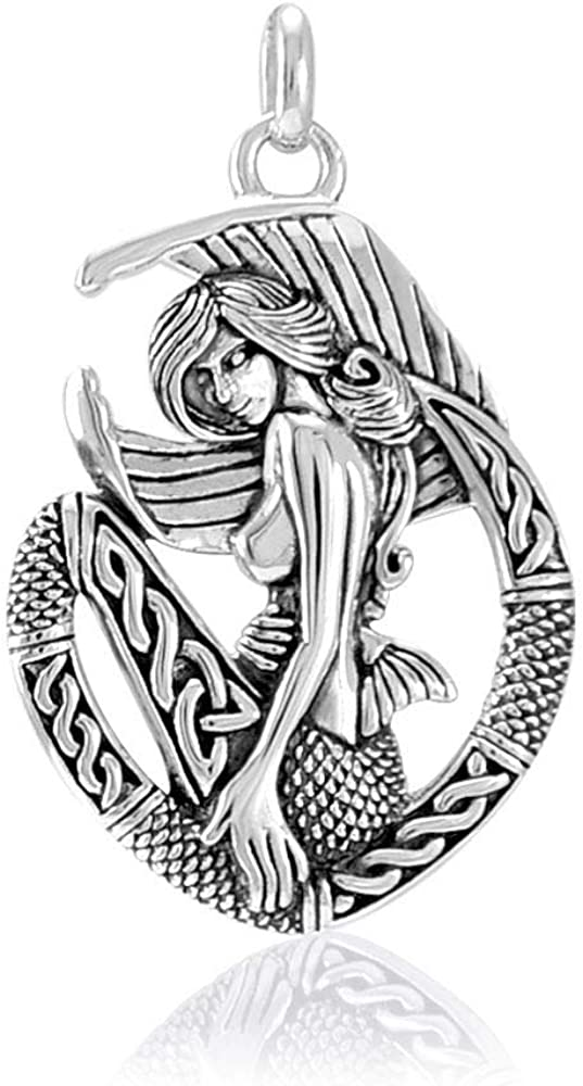 Jewelry Trends Elegant Alternative dealer Celtic Mermaid Ocean Silver Goddess Pend Sterling
