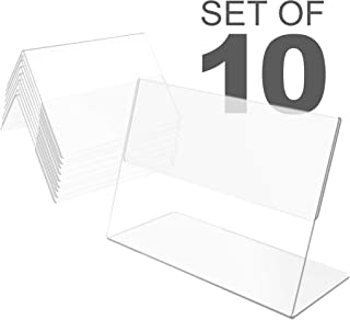 10 Pack Plastic Mini Price Holders 3 x 2.5 inches - Small Plastic Message Board Holders - Table Number Holders - Food Label Holders for Party - Small Price Label Holders