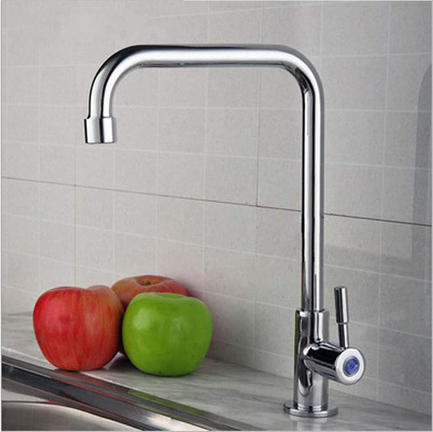 Oudan All Copper Single Cold Kitchen Hole 360 ??redatably Elbow Vegetables Basin Sink Faucet Single Cold Twentysomething (color   Twentysomething Single Cold, Size   -)
