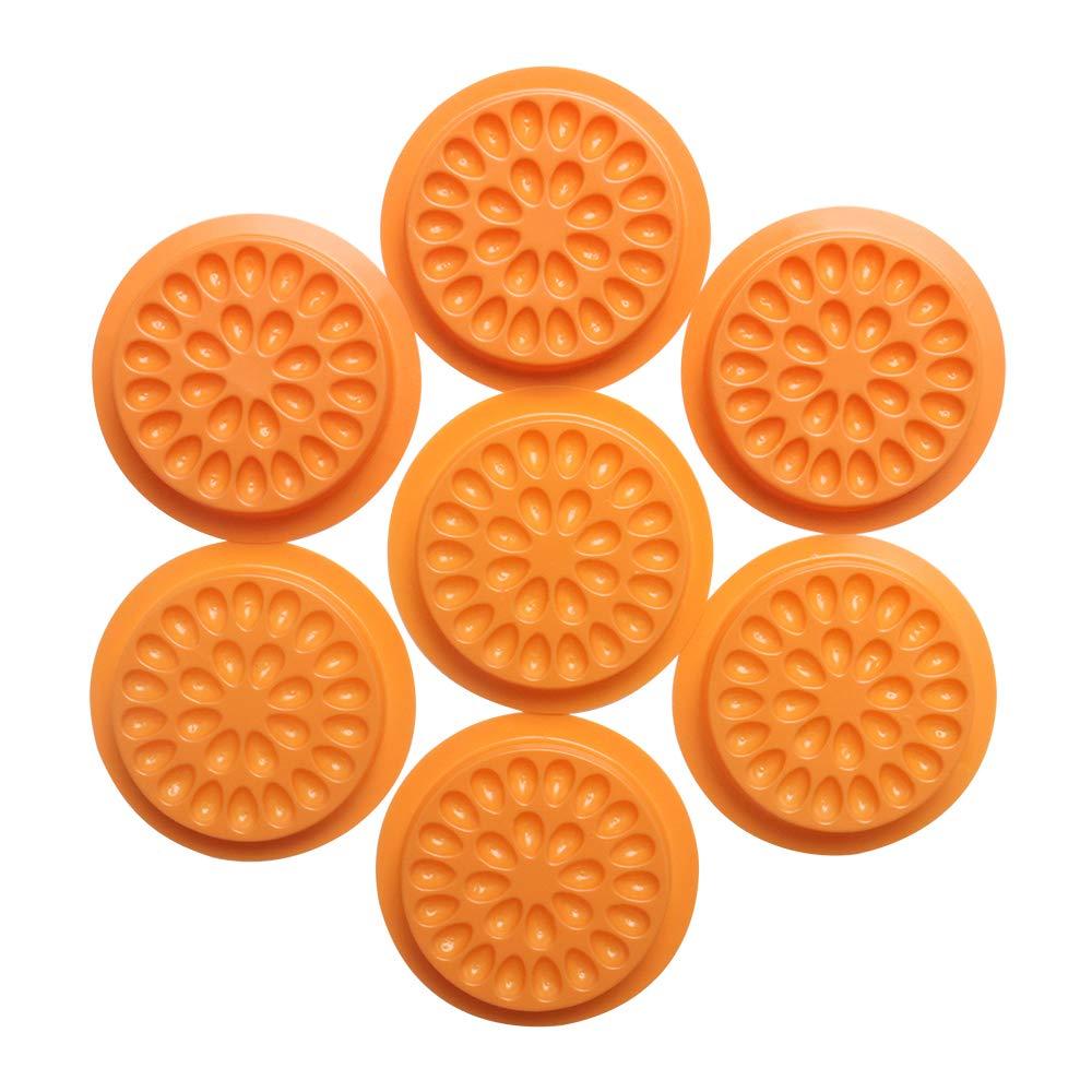 100pcs Disposable Glue Gasket Plastic Finally Detroit Mall resale start Fals Flower Shape Pad