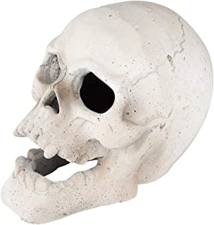 Stanbroil 9-Inch Imitated Human Skull Gas Log for Indoor or Outdoor Fireplaces, Fire Pits Halloween Decor, 1-Pack, White