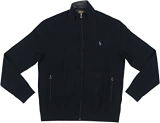 Mens Full Zip Track Jacket (Medium, Black)