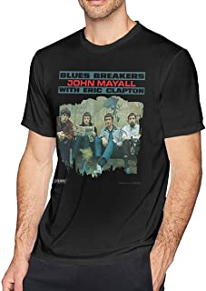 Men's John Mayall with Eric Clapton Blues Breakers Round Neck Vintage Cotton Soft T-Shirts